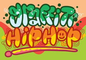Graffiti Hip-Hop Cultuurbrief vector