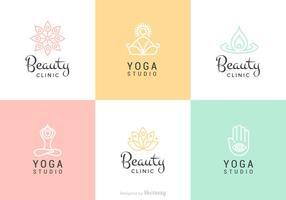 Schoonheid En Yoga Vector Logo Set