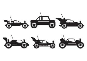 Rc Car silhouet set vector