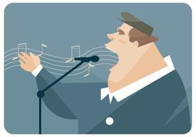 Grote Man Zingen Vector