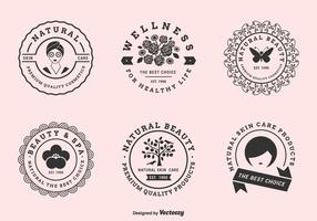 Vector label set voor schoonheidsklinieken