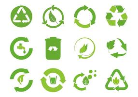 Gratis Recycled Cycle Icons Vector