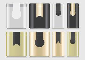 Tin Box Mockup Vector