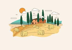 Toscanië Landschap Vector