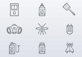 Exterminator Icons vector