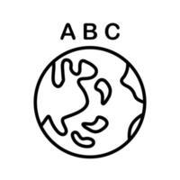 wereldwijd onderwijs pictogram