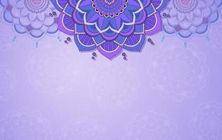 achtergrond sjabloon met mandala patroon ontwerp