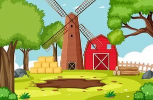 lege achtergrond natuur boerderij landschap vector