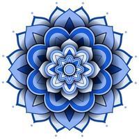 mandala patroon ontwerp op witte achtergrond vector