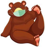 beer stripfiguur masker dragen
