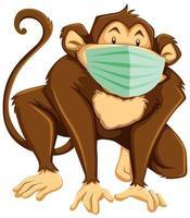 aap stripfiguur masker dragen