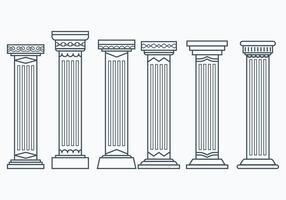 Set van Corinthische Kolommen vector