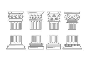 Romeinse kolom iconen vector