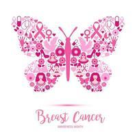 ontwerp van de voorlichtingsmaand van borstkanker