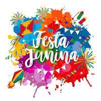 festa junina festival belettering vector