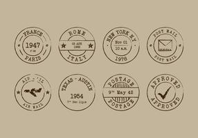 Retro Postzegel Vector