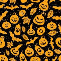 abstract naadloos halloween-patroon