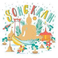 songkran festival achtergrond