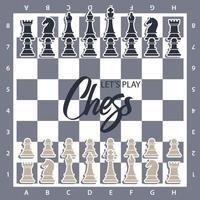 schaakbord met figuren