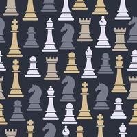 naadloze patroon met schaakfiguren