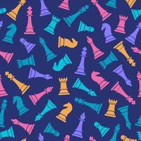 naadloze patroon met gekleurde schaakfiguren