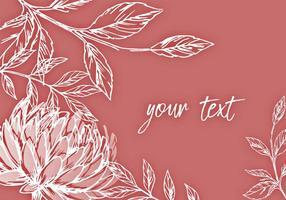 Elegant Bloemen Achtergrondontwerp vector