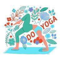 vrouw uitoefenen van yoga