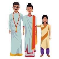 Indiase familie stripfiguren