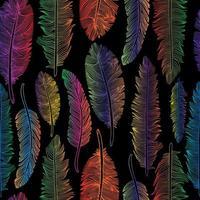 naadloze patroon van regenboogveren vector