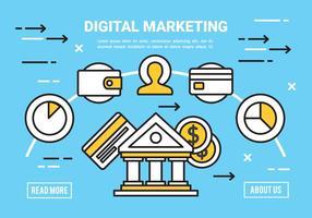Gratis Flat Digital Marketing Concept Vector
