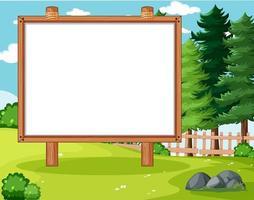 lege banner bord in natuurpark landschap