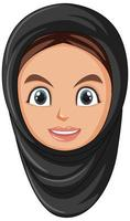 gelukkig moslimmeisje hoofd