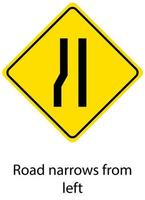 geel verkeerswaarschuwingsbord op witte achtergrond