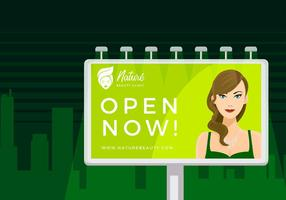 Beauty Clinic Outdoor Ad Free Vector