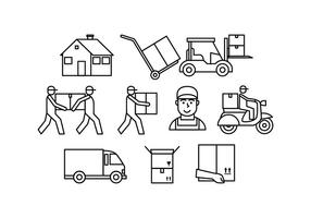 Gratis Movers Line Icon Vector