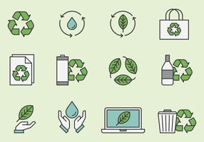 Recycling En Milieu Pictogrammen vector