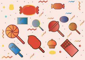 Candies Icons Set vector