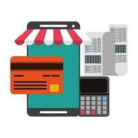 samenstelling van online winkelen en betalingstechnologie