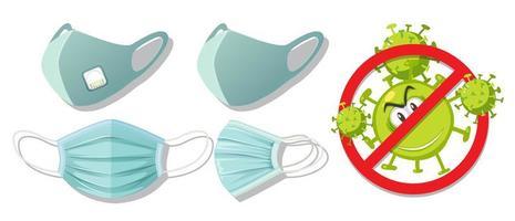 stop het virus door een masker te dragen