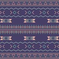 Azteekse tribale naadloze patroon met geometrische elementen vector