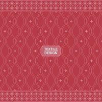 rood naadloos traditioneel textiel bandhani sari grenspatroon vector