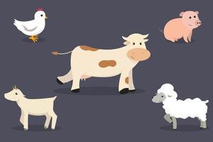 boerderij dieren collectie vector