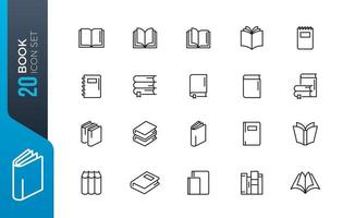 minimale boek icon set