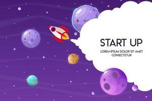 ruimte bedrijfssjabloon voor startproject