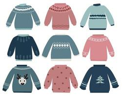 oude en lelijke sweater set vector