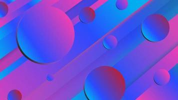 blauw paars gradiëntcirkel en hoekig strepenontwerp