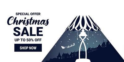 kerst en winter verkoop promotie marketing banner vector