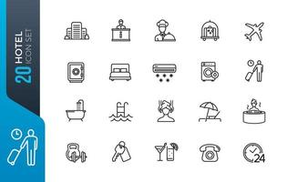 minimale hotel icon set