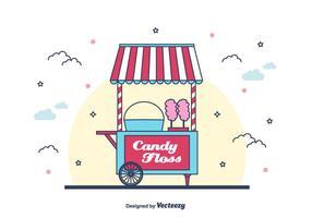 Candy Floss Machine Vector Achtergrond