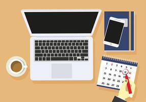 Desktop Agenda Gratis Vector